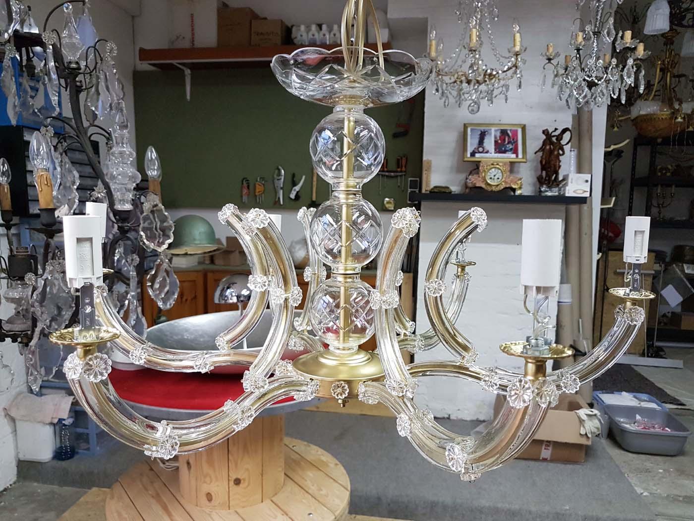 remontage-cablage-lustre-marieantoinette-6-lampes